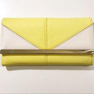 Handbags - Yellow and White Geometric Designed Wallet/Clutch